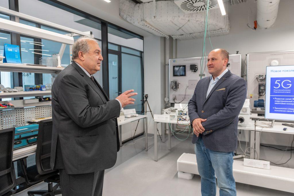 Президент Республики Армения Армен Саркисян и Дмитрий Лаконцев, руководитель ЦК НТИ.